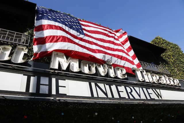 "Wie hier in Los Angeles wird ""The Interview"" nun in ganz Amerika in den Kinos gezeigt"