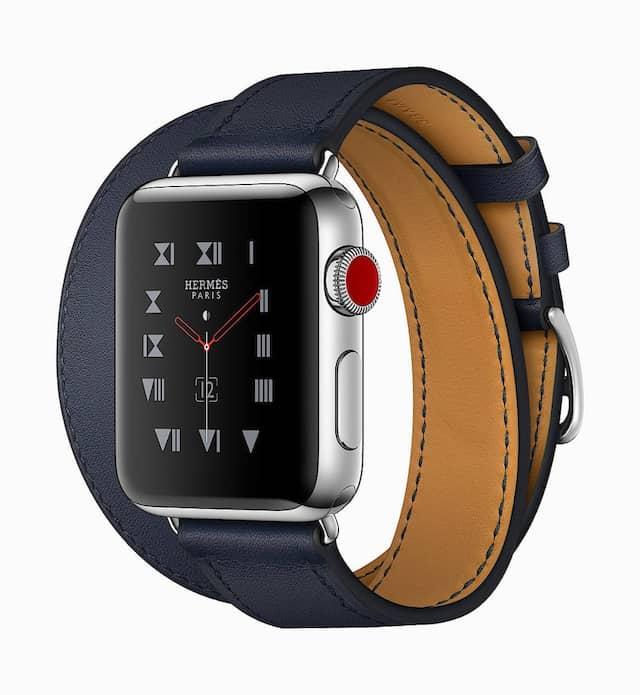Hermes Edition: Apple Watch Series 3 mit Mobilfunk für 1400 Euro.