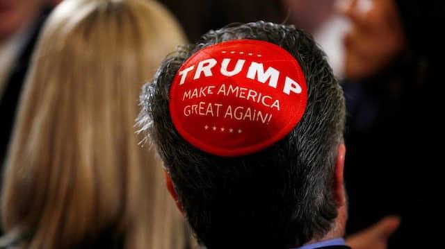 Ein Empfang im Weißen Haus, bei dem Präsident Donald Trump eine Exekutivanordnung gegen Antisemitismus unterzeichnete.