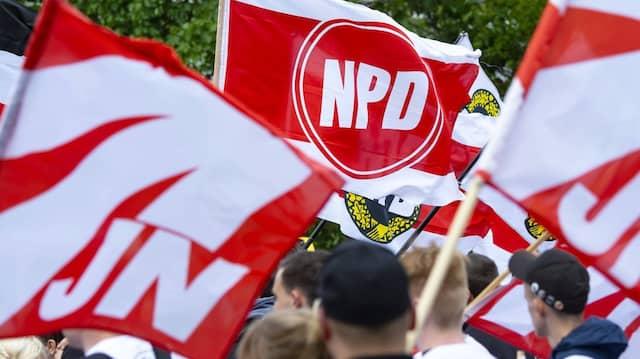 Demonstration der rechtsextremen NPD in Erfurt im Mai 2018 (Archivfoto)