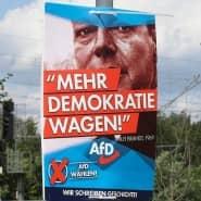 Laut AfD-Landesgeschäftsführer Lars Hünich läuft die Aktion mit 400 Wahlplakaten nur im brandenburgischen Landkreis Potsdam-Mittelmark.