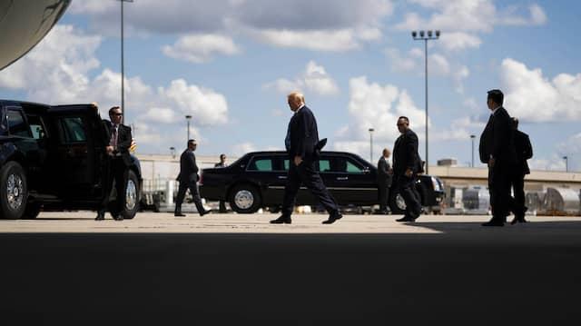 Im Visier der amerikanischen Justiz: Präsident Trump in Iowa im August