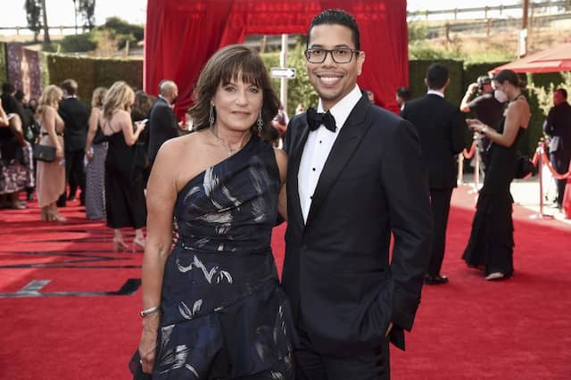 """Steven Canals und """"Pose""""-Darstellerin Sherry Marsh bei den Emmy Awards, bei denen die Serie drei Preise gewann."""