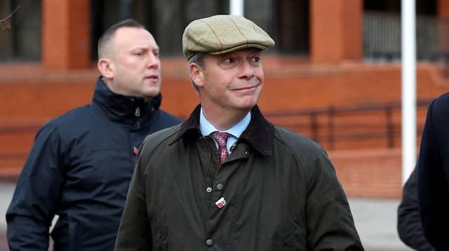 Der Gründer und Vorsitzende der Brexit-Partei, Nigel Farage, bei einem Wahlkampftermin in Hartlepool