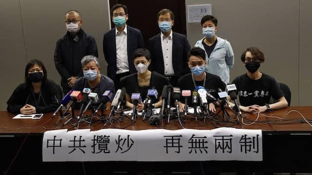 Protest: Hongkonger Demokraten äußern sich zu den Pekinger Plänen