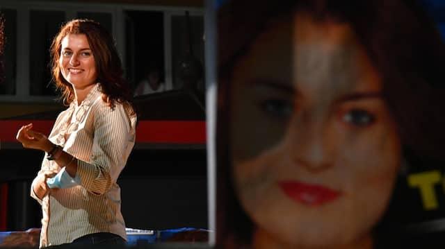 Susanna Ceccardi, wird von Salvini la leonessa, die Löwin genannt. Sie geht in der Toskana als Lega-Kandidatin ins Rennen.