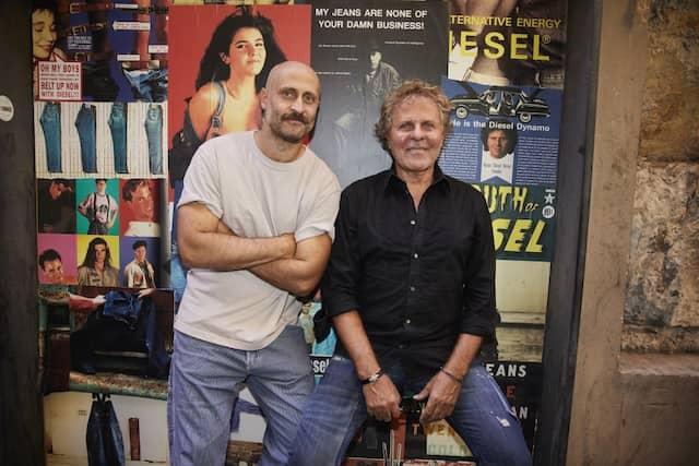 Vater und Sohn: Nachhaltigkeits-Beauftragter Andrea Rosso und Gründer von Diesel Renzo Rosso.