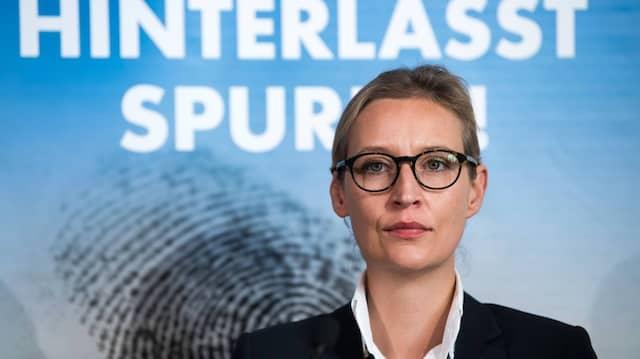 """""""Letztendlich entscheiden die Migranten aus aller Herren Länder über die Einwanderung in die Bundesrepublik, weil die Bundesrepublik komplett die Kontrolle aufgegeben hat"""", sagt die AfD-Fraktionsvorsitzende Alice Weidel in der F.A.Z. Woche"""