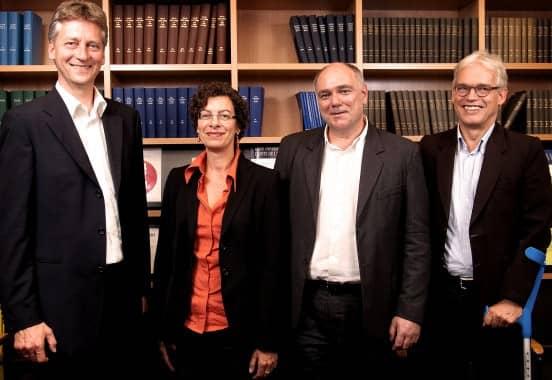 Das akademische Gründungsteam: Prof. Schildhauer, Dr. Hofmann, Dr. Schulz und Prof. Pernice (v.l.)