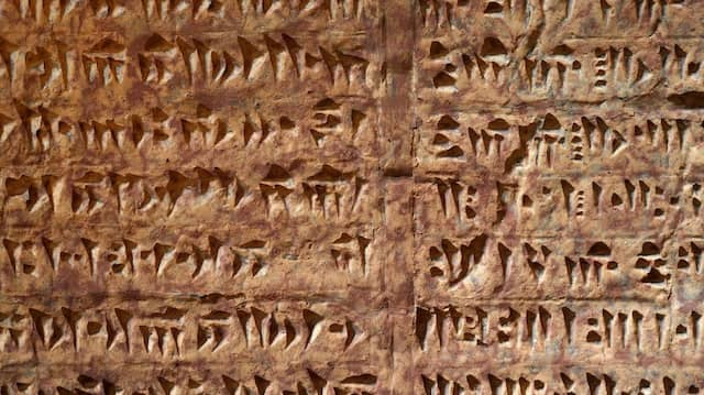 Altpersischen Keilschriften vom Berg Elwend