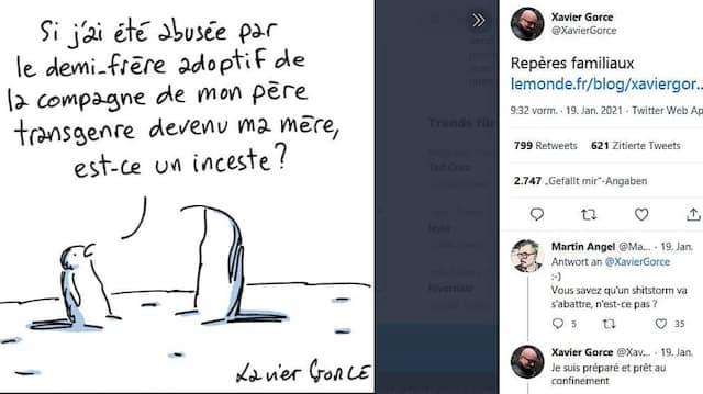 Wenn ich, fragt der jüngere Pinguin den älteren, vom adoptierten Halbbruder der Lebenspartnerin meines Transgender-Vaters, der jetzt meine Mutter ist, sexuell missbraucht werde, handelt es sich dann um Inzest?