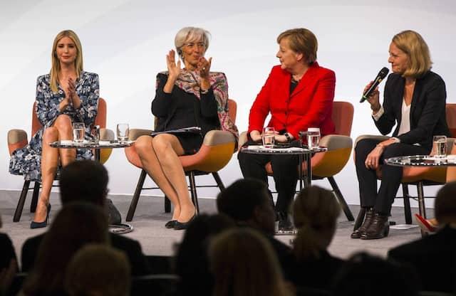 Auf dem W20 Gipfel mit Angela Merkel, Christine Lagarde und Ivanka Trump