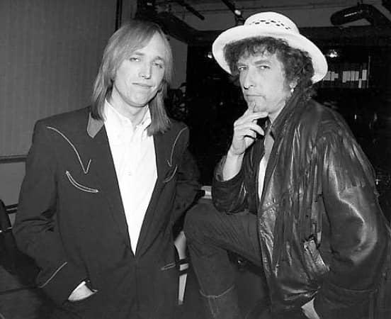 Tom Petty mit Bob Dylan auf der gemeinsamen Tour 1986