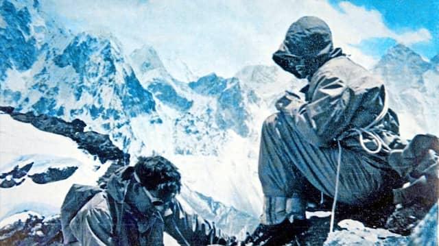 Das war für ihn bloß ein Spaziergang: George Mallory (links) und Fanny Bullock Workman auf dem Pokalde Gipfel in Nepal.