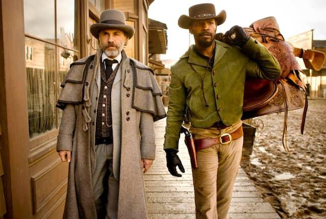 """""""The D is silent."""" Christoph Waltz und Jamie Foxx in """"Django Unchained""""."""