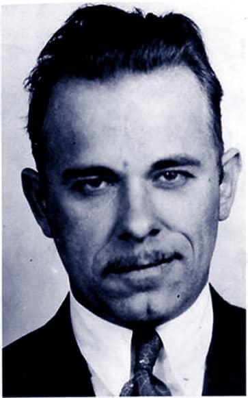 Der echte John Dillinger auf einem Polizeifoto Anfang der dreißiger Jahre