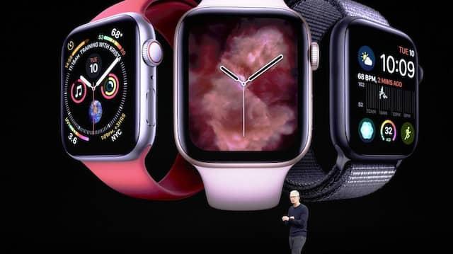 Freiwillige Selbstkontrolle: Tim Cook, Geschäftsführer von Apple, stellt die neue Apple Watch vor