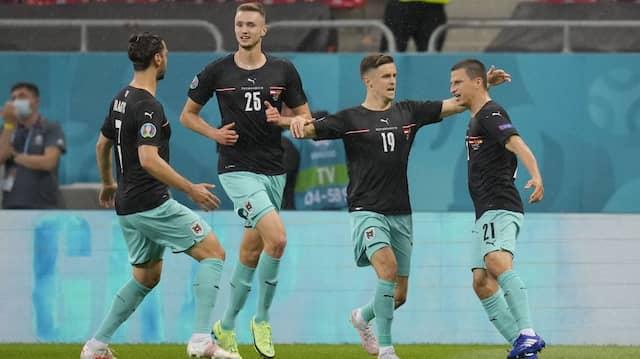 Österreich gegen Nordmazedonien in der Arena Nationala