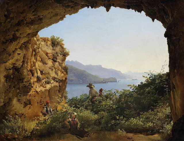 """Italien als gemeinsames Sehnsuchtsziel: Silvester Schtschedrins """"Grotta di Matromania auf Capri"""" von 1827."""
