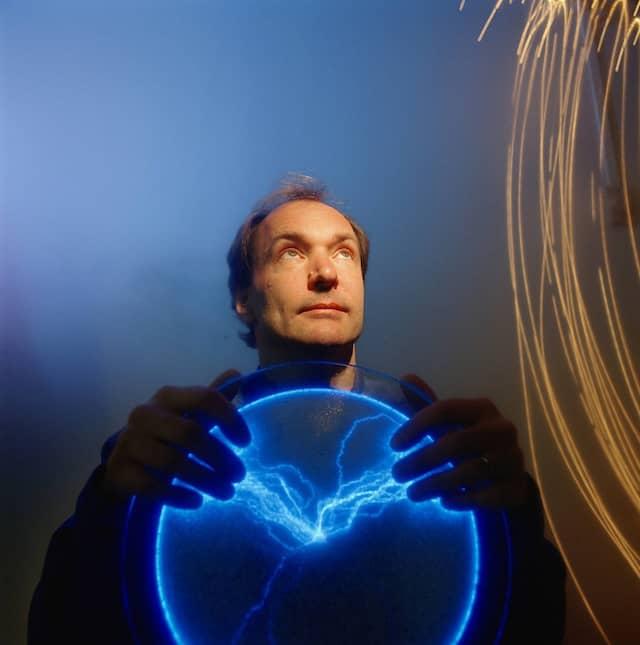 """Er hat einen Traum: Tim Berners-Lee, der """"Vater"""" des World Wide Web."""