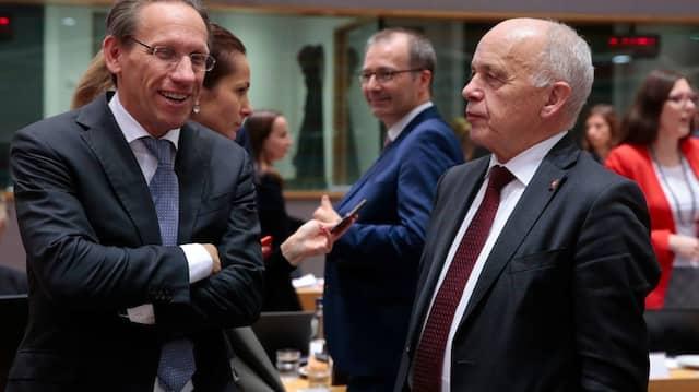 Finanzstaatssekretär Kukies (links) auf einem Treffen europäischer Finanzminister