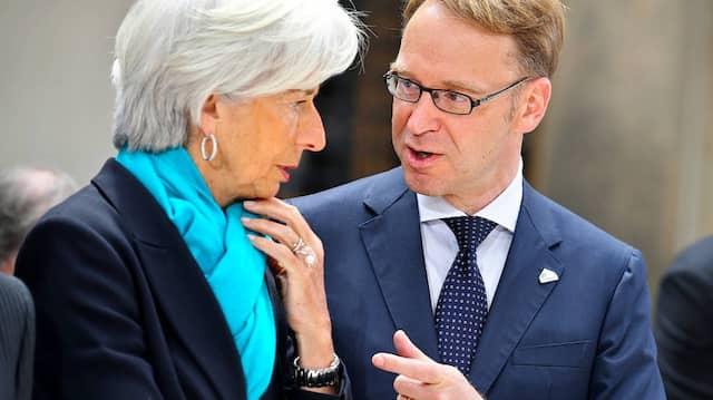 Lagarde und Weidmann