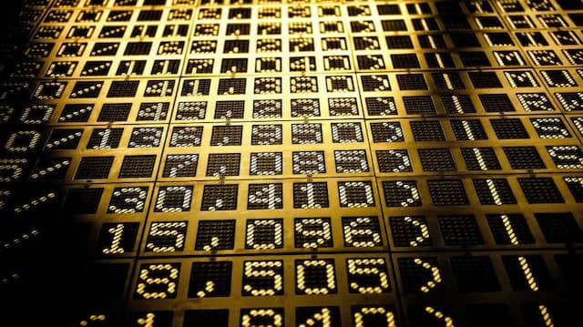 Das Gesetz der großen Zahlen: Kurstafel an der Frankfurter Börse