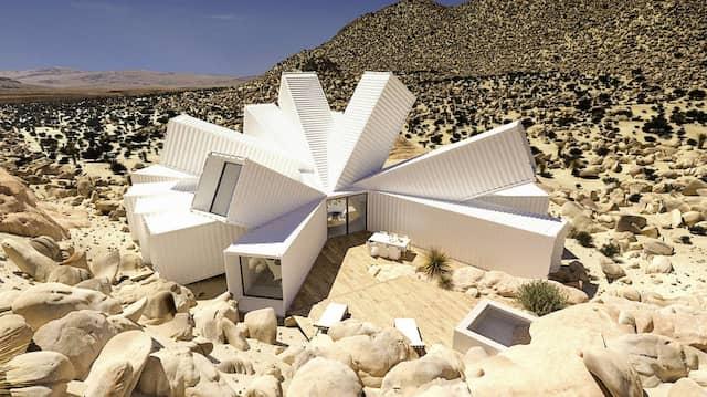 Das Ferienhaus in der kalifornischen Mojave-Wüste ist einem Kristall nachempfunden.