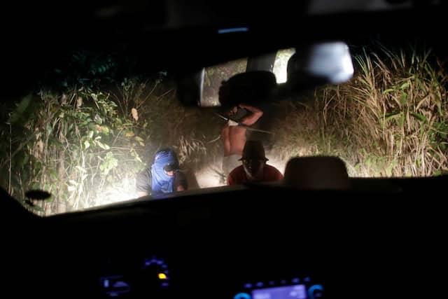 Bei der Patrouille ist das Auto nahe Amarante liegengeblieben.