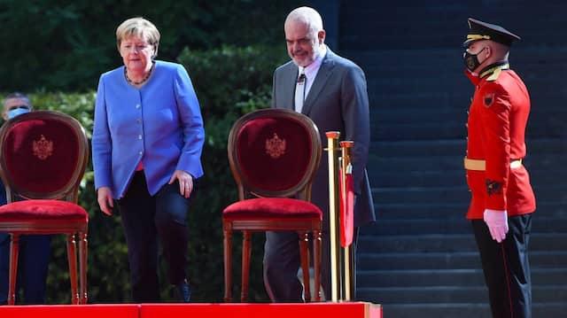 Angela Merkel am Dienstag bei Albaniens Ministerpräsidenten Edi Rama