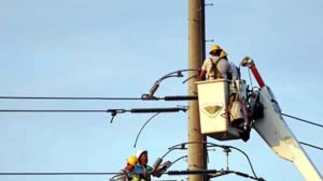 Arbeiten an der Stromversorgung in Alabama