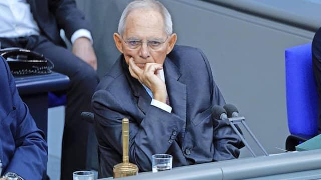 Seit 1972 Abgeordneter:Bundestagspräsident Wolfgang Schäuble