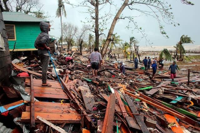 Zerstörung in Puerto Cabezas in Nicaragua