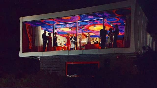 Auf Zukunft eingestellt: Die Einweihungsparty des Plastikhauses fg2000 im Jahr 1968.
