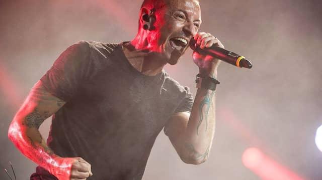 Chester Bennington, der verstorbene Sänger der Band Linkin Park, bei einem Konzert im Jahr 2014