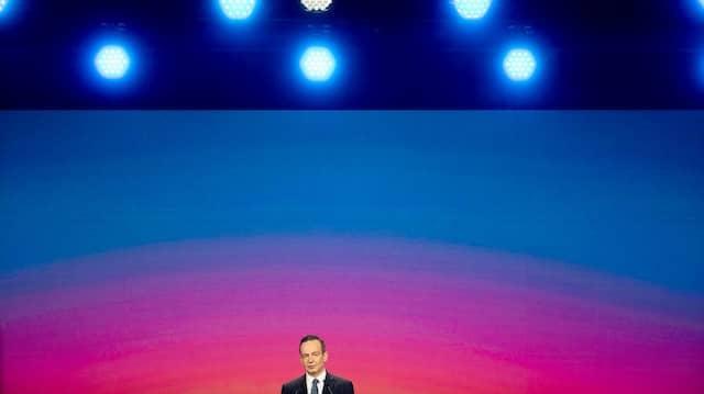FDP-Generalsekretär Volker Wissing spricht am Samstag auf dem Parteitag der Liberalen in Berlin.
