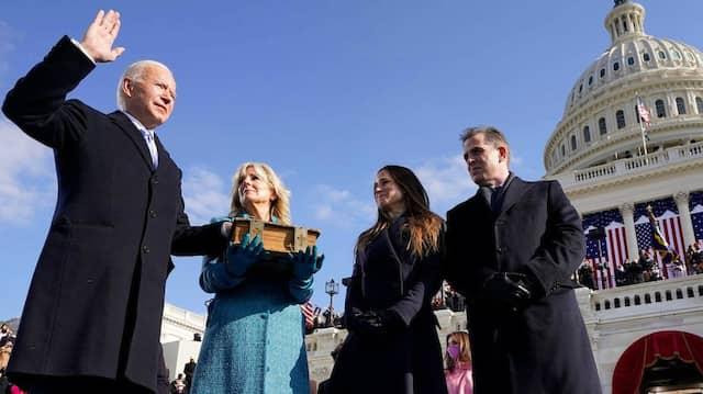 Joe Biden am Mittwoch bei seiner Vereidigung als 46. Präsident der Vereinigten Staaten