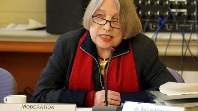 Moderatorin des Runden Tischs: Antje Vollmer
