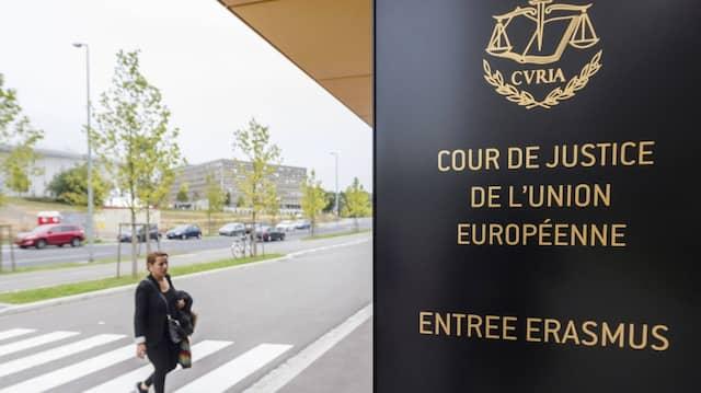 Der Europäische Gerichtshof in Luxemburg im Oktober 2015