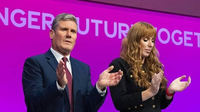 Der Labour-Vorsitzende Keir Starmer und seine Stellvertreterin Angela Rayner in Brighton