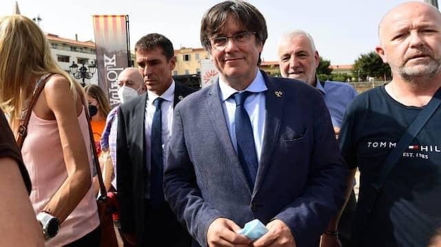 Carles Puigdemont vor der Anhörung am Samstag in Alghero