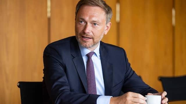 Christian Lindner im Juli in Frankfurt