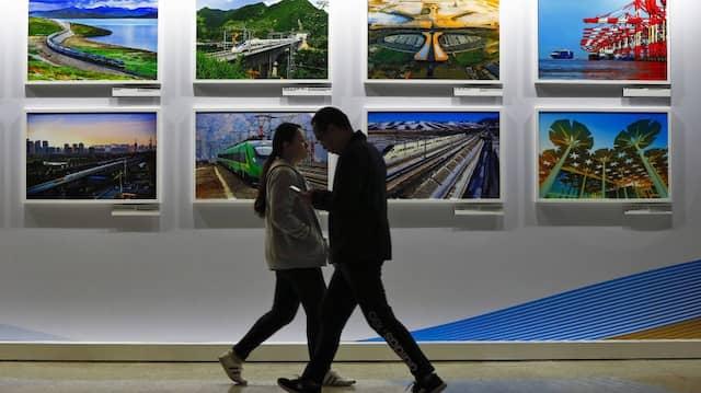 Ausstellung mit Seidenstraßen-Projekten in Peking im April 2019.