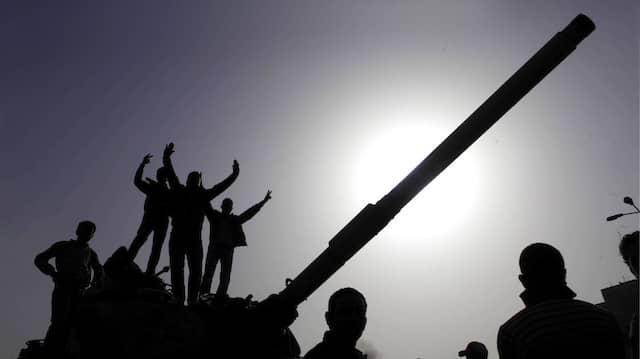 Jubel nach dem Sturz Präsident Mubaraks 2011.