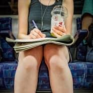 Schreiben in der U-Bahn