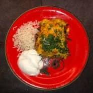 Wie in den Anden: Der chilenische Maisauflauf mit Reis und Joghurt.