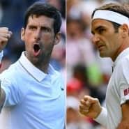 Wer gewinnt Wimbledon? Novak Djokovic (l.) oder Roger Federer?