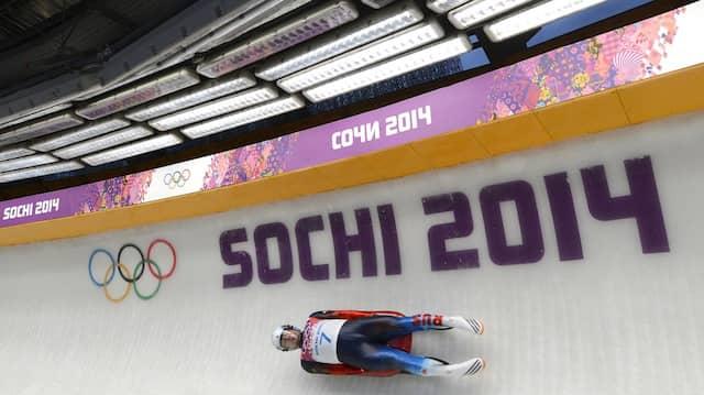 Auch in Pyeongchang dabei? Russischer Rodler bei Olympia 2014 in Sotschi.
