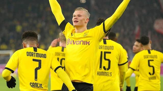 Erling Haaland braucht nur eine kurze Zeit, um Hauptdarsteller auf der Dortmunder Bundesliga-Bühne zu werden.