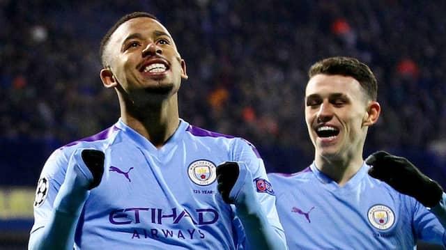 Treffsicher in Zagreb: Gabriel Jesus (Mitte) ist erfolgreich für Manchester City.